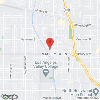 Map of Sprint at 13029 Victory Blvd, North Hollywood, CA 91606