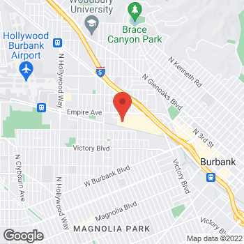 Map of Staples at 2080 Empire Avenue, Burbank, CA 91504