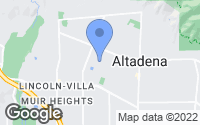 Map of Altadena, CA