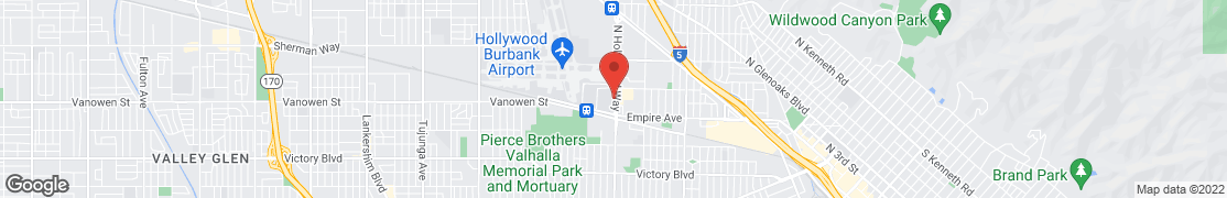 Map of 2525 North Hollywood Way in Burbank