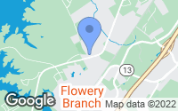 Map of Flowery Branch, GA