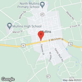 Map of Arby's at 300 West McIntyre St., Mullins, SC 29574