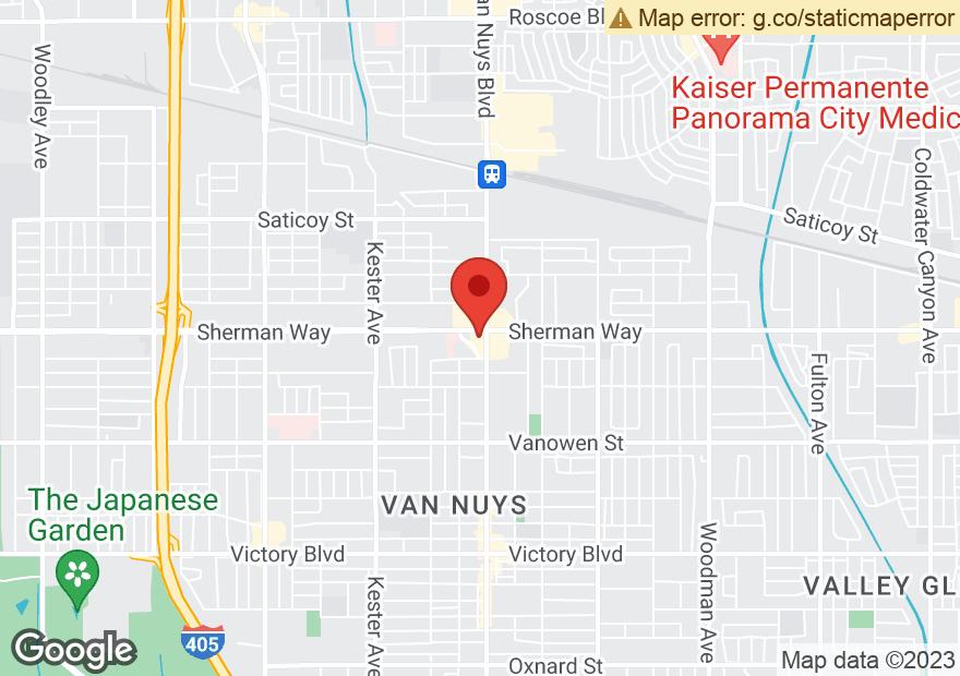 Google Map of 7155 VAN NUYS BLVD