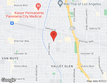 Map of 13136 Sherman Way in North Hollywood