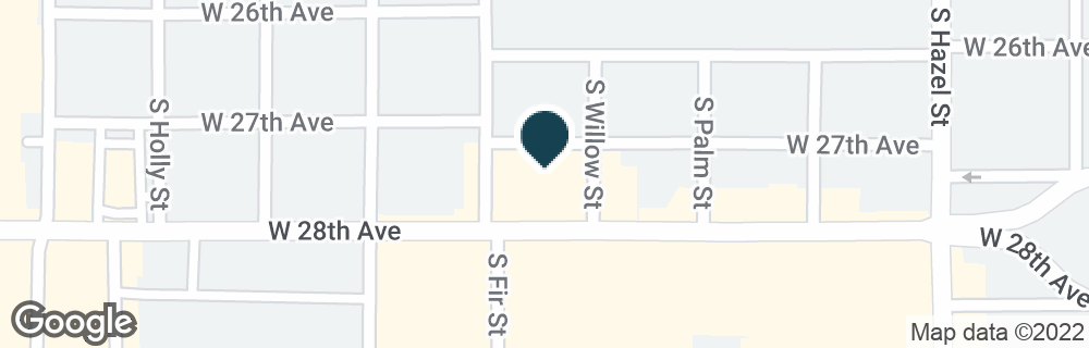 Google Map of2503 W 28TH AVE