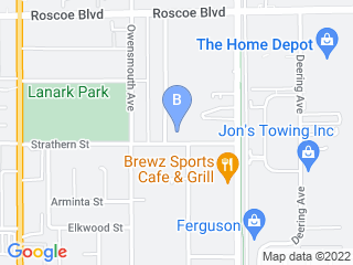 Map of 4 Paws Resort Spa Dog Boarding options in Canoga Park | Boarding
