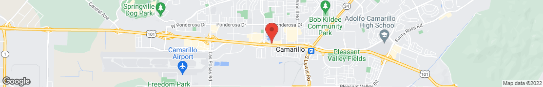 Map of 1659 East Daily Dr. in Camarillo
