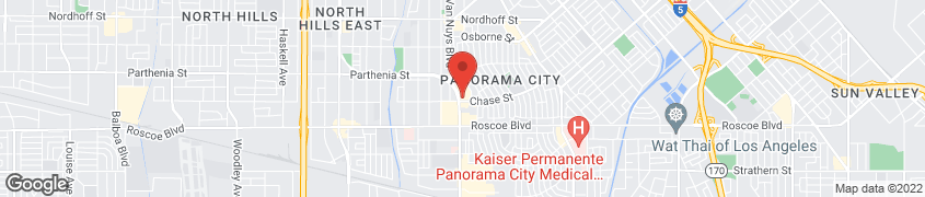 Map of 8500 Van Nuys Blvd. in Panorama City