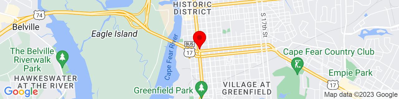 Google Map of 34.225833333333334, -77.94472222222223