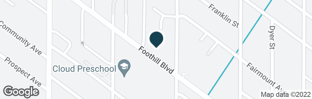 Google Map of3001 FOOTHILL BLVD