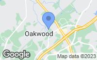 Map of Oakwood, GA