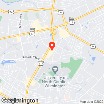 Map of Pizza in Wilmington, NC – Cicis Pizza at 341 S. College Rd (Nc Hwy 132), Wilmington, NC 28403