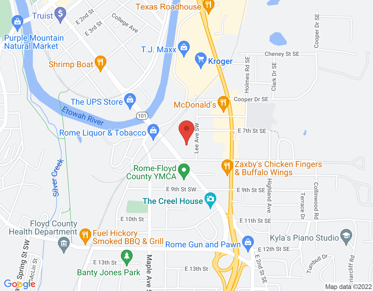 Map to William L. Edwards Dentistry