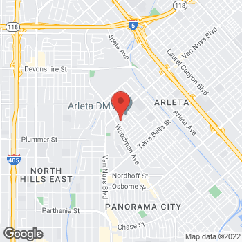 Map of Check `n Go at 9700 Woodman Avenue, Pacoima, CA 91331