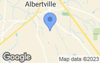 Map of Albertville, AL