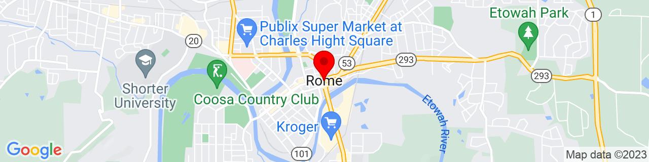 Google Map of 34.25694444444444, -85.16472222222222