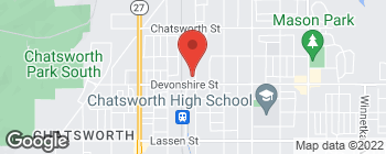 Map of 21405 Devonshire St in Chatsworth