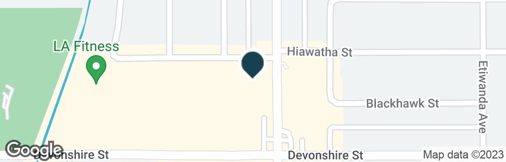 Google Map of18515 DEVONSHIRE ST