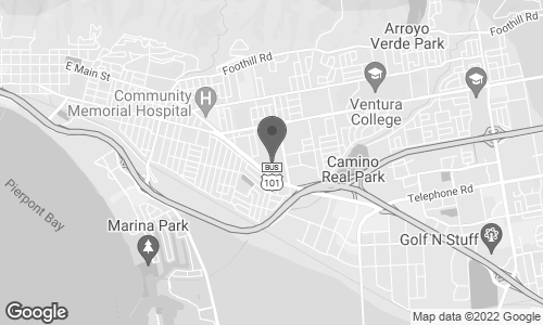 Map of 3301 East Main St. in Ventura