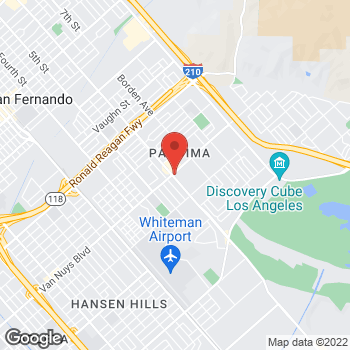 Map of Taco Bell at 12786 Van Nuys Blvd, Pacoima, CA 91331