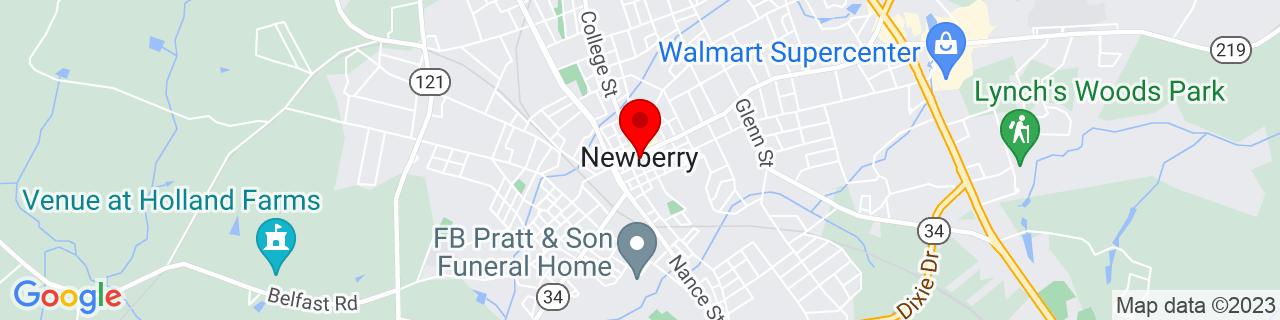 Google Map of 34.27444444444444, -81.61861111111111