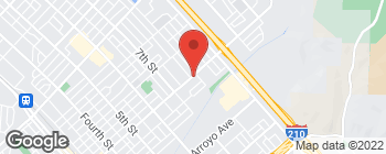 Map of 1160 N Maclay Ave in San Fernando