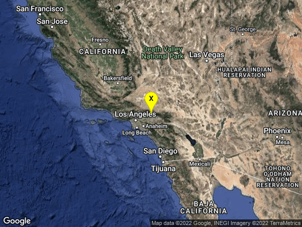 earthquake 8km WNW of Lytle Creek, CA