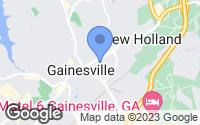 Map of Gainesville, GA