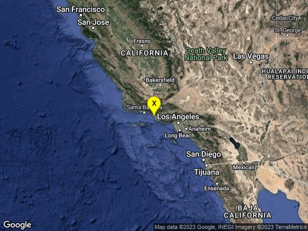 earthquake 8km WNW of Ventura, CA