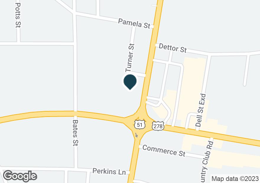Google Map of105 HIGHWAY 51 N