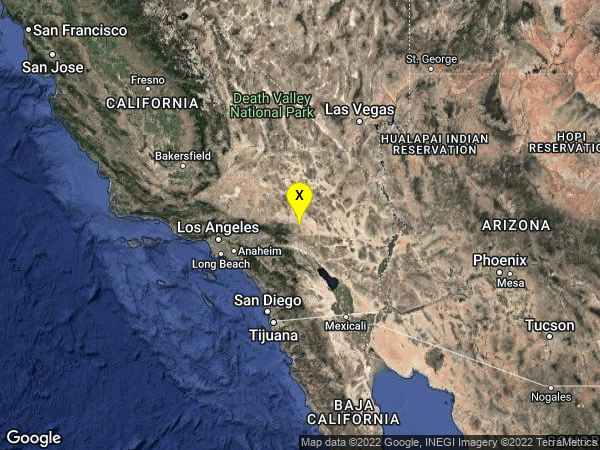 earthquake 22km N of Yucca Valley, CA