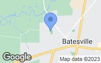 Map of Batesville, MS