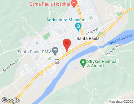 Map of 327 South Palm Ave in Santa Paula