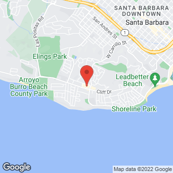Map of Rite Aid at 1976 Cliff Drive, Santa Barbara, CA 93109