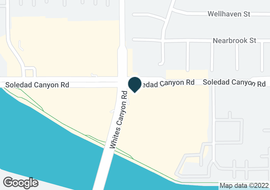 Google Map of19266 SOLEDAD CANYON RD