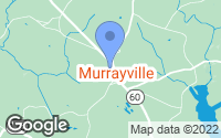 Map of Murrayville, GA