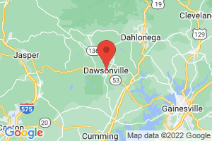 Map of Dawsonville