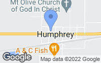 Map of Humphrey, AR