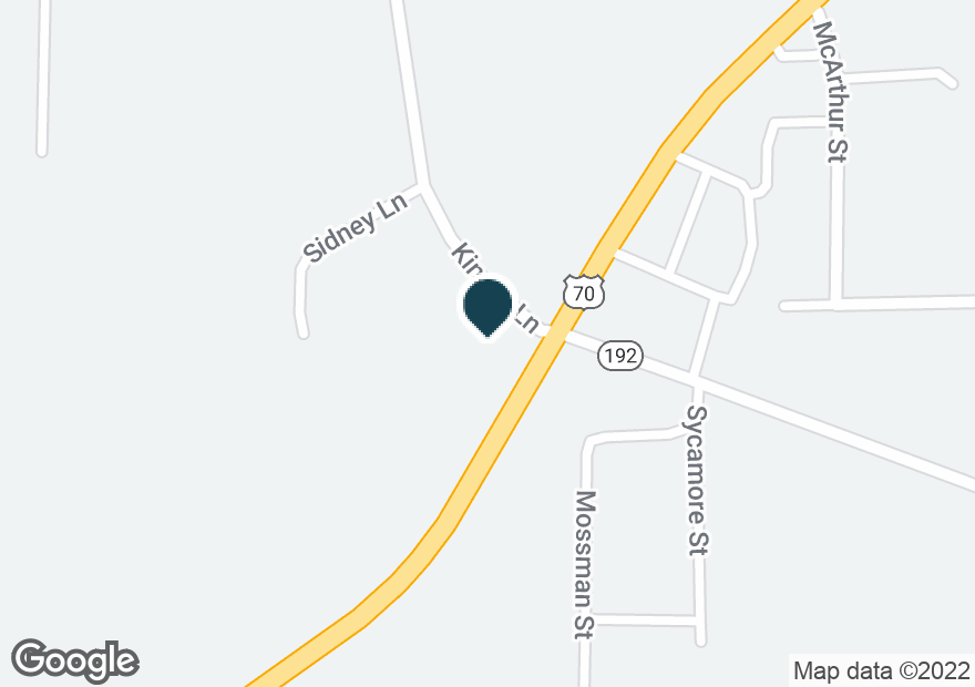 Google Map of1800 AIRPORT RD