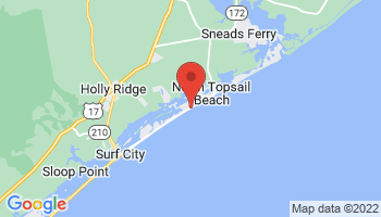 Map of North Topsail Beach