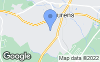 Map of Laurens, SC