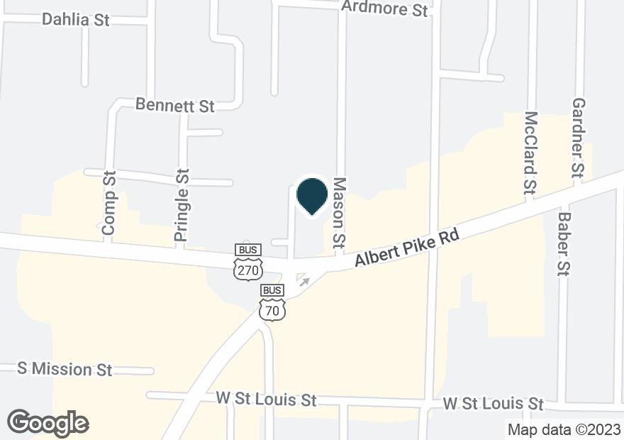 Google Map of1404 ALBERT PIKE RD
