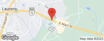 Map of 780 E Main St in Laurens