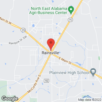 Map of Taco Bell at 71 McCurdy Ave N, Rainsville, AL 35986