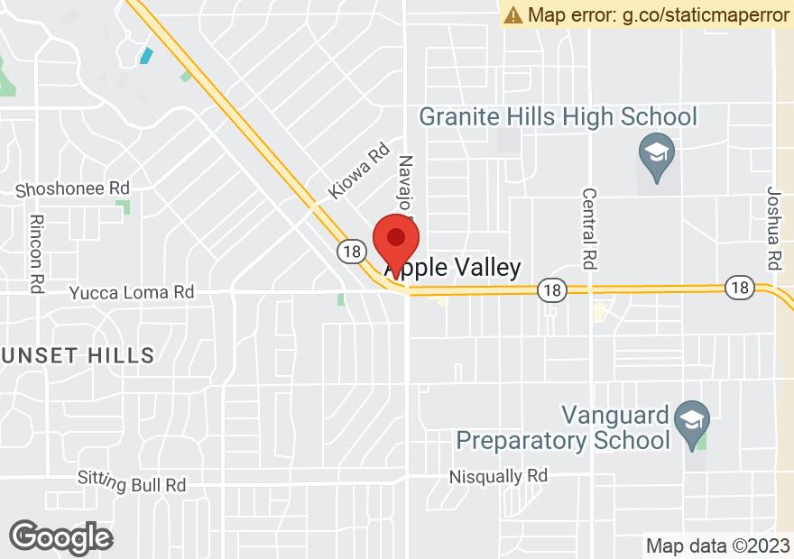 Google Map of 21650 US HIGHWAY 18