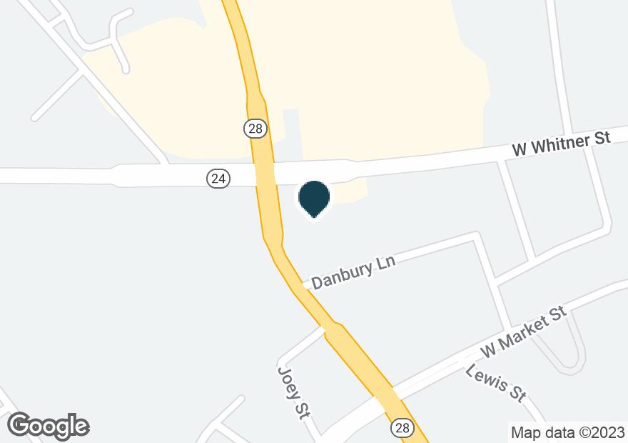 Google Map of2539 W WHITNER ST