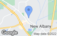 Map of New Albany, MS