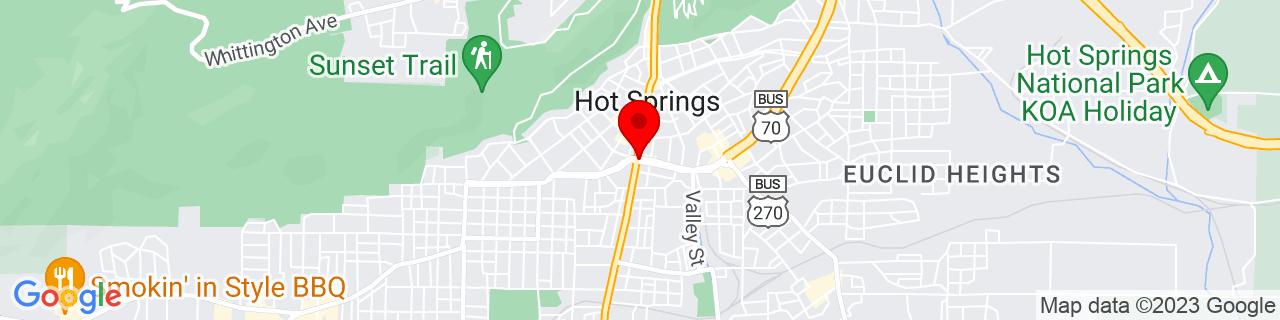 Google Map of 34.50361111111111, -93.05527777777777