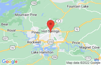 Map of Hot Springs Village