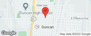 Map of 1002 W Chestnut Ave in Duncan
